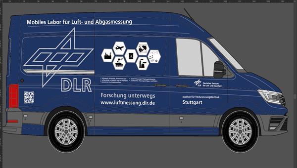 """Das zukünftige DLR%2dVT Messfahrzeug """"Forschung unterwegs"""" als mobiles Labor für Luft%2d und Abgasmessungen"""