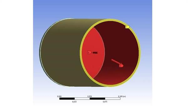 FE%2dSimulation von CMC%2dRohr unter Innendruckbelastung