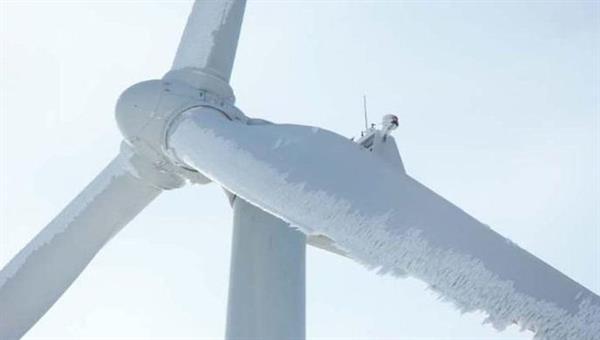 Vereisung an Windkraftrotorblättern
