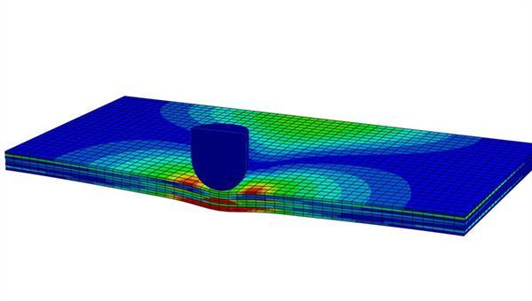 Impactsimulation an Faserverbundprobe