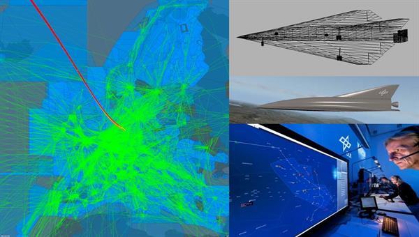 Modellierung von Raumfahrzeugen auf dem Flug durch den Europäischen Luftraum