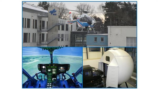 Experimentalhubschrauber ACT/FHS des DLR und Air Vehicle Simulator (AVES)