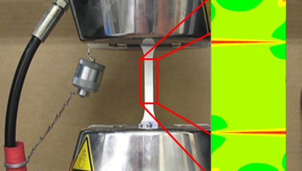 """Zugprüfung einer Faserverbundkeramik und """"Digital Twin"""""""