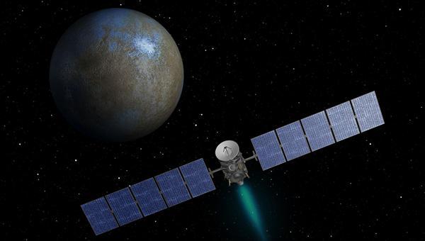 Dawn kurz vor der Ankunft bei Ceres