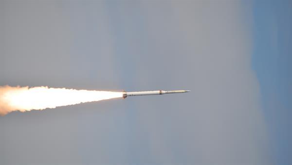 Flug einer Höhenforschungsrakete