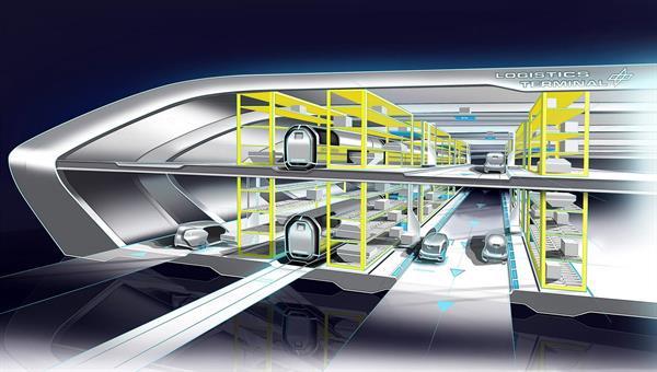 Konzeptskizze eines intermodalen Logistik%2dTerminals für den NGT Cargo
