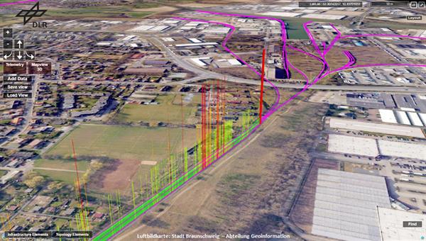 Exemplarische Visualisierung der Gleislagequalität im Braunschweiger Hafen