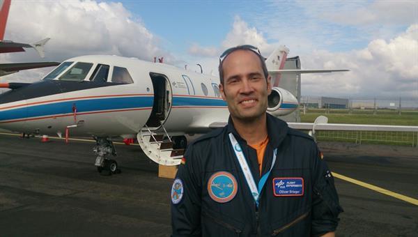 Oliver Brieger leitet den Forschungsflugbetrieb im DLR