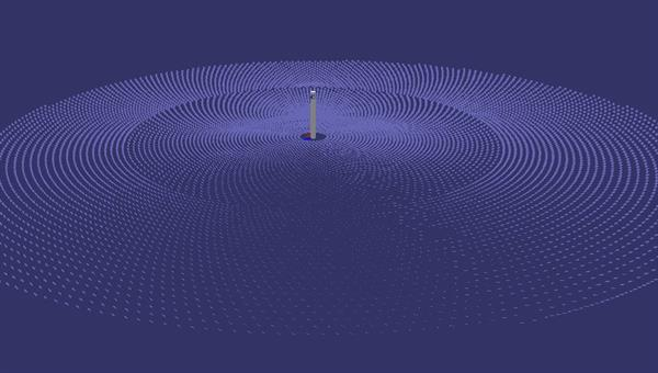 Solarturmkraftwerk im Simulationsprogramm STRAL
