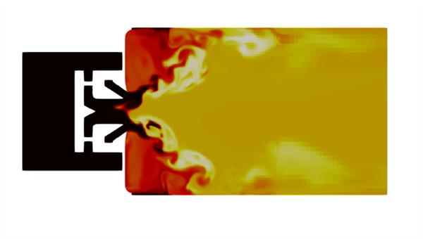 Numerische Simulation einer turbulenten Spray%2dFlamme