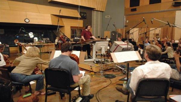 Filmmusikaufnahmen in der Newman Scoring Stage, 20th Century Fox, Los Angeles