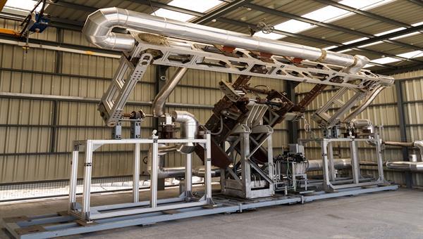 """REPA"" facility at CIEMAT's Plataforma Solar de Almería. Test bench for flexible pipe connectors of solar parabolic trough collectors"
