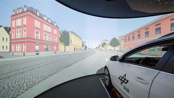 User study in a driving simulator at DLR