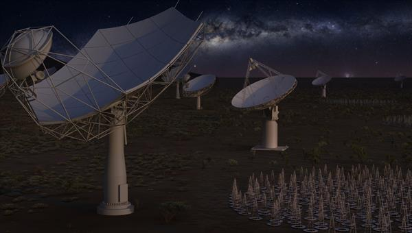 The planned SKA radio telescope %2d a real big data challenge