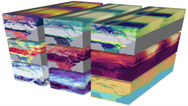 Example of multi%2ddimensional earth system data represented as data cube (source: https://esd.copernicus.org/articles/11/201/2020/)
