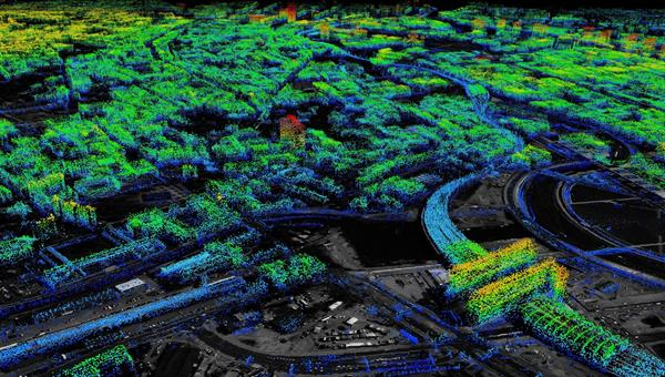 Point cloud for the vertical measurements of the area around Berlin central station