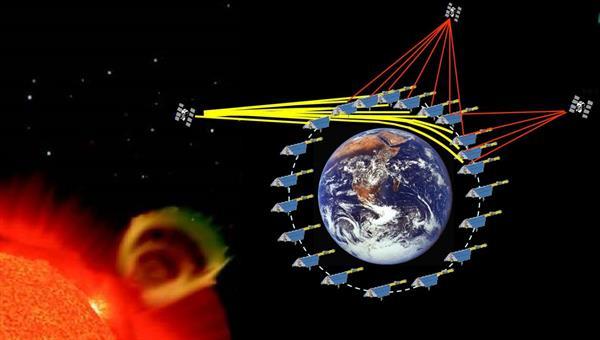 An artistic view of ionospheric radio occultation