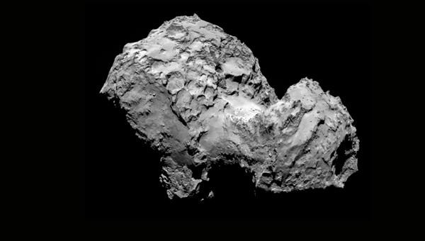 Comet 67P Churyumov%2dGerasimenko as seen from the Rosetta orbiter in August 2014.  Foto: ESA/Rosetta/MPS for OSIRIS Team MPS/UPD/LAM/IAA/SSO/INTA/UPM/DASP/IDA