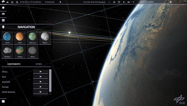 Camera trajectory calculation when travelling automatically from Planet to Planet is not easy