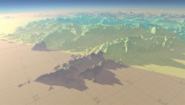 parametrization of cascaded shadow maps for very huge outdoor scenes