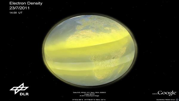 3D reconstruction of the Earth's ionosphere
