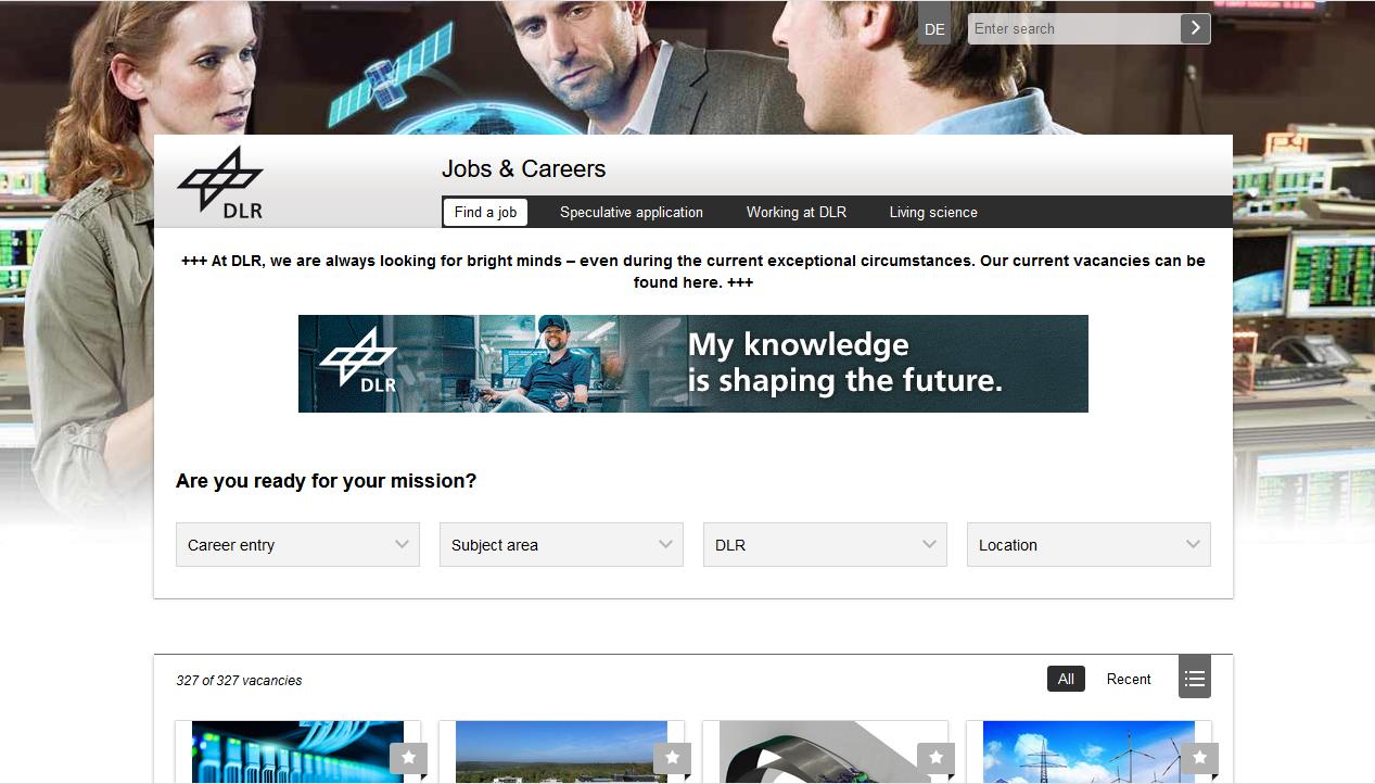 DLR   Jobs & Careers   Homepage