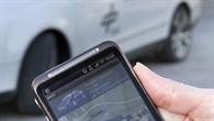 Smartphone ruft %2d Auto kommt