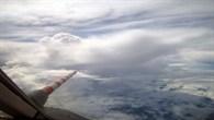 Anflug auf ein Gewitter