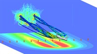 Wirbelschleppen in der Simulation