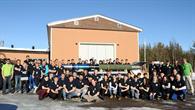 Die Teams der REXUS 17/18%2dDoppelkampagne in Esrange