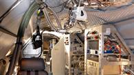 Der Innenraum von HALO mit den wissenschaftlichen Aufbauten