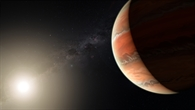 Titanoxid in der Atmosphäre des Exoplaneten WASP%2d19b