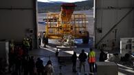"""Launch%2dFahrzeug """"Hercules"""" beim Transport der Gondel von BEXUS 24"""