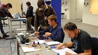 Das Team Lotus_XD bei der Vorbereitung