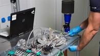 Prüfstand für die Untersuchung metallischer Latentwärmespeicher am DLR %2d Institut für Fahrzeugkonzepte.