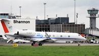 Forschungsflugzeug HALO am Flughafen Shannon/Irland