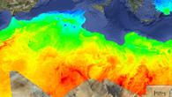 Karte der direkten Sonneneinstrahlung (Kilowatt/Quadratmeter) in Nordafrika