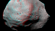3%2dD view of the Martian moon, Phobos