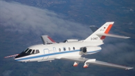 Das DLR%2dForschungsflugzeug Falcon 20E