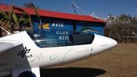 Das Forschungsflugzeug Stemme S10 in Pokhara, Nepal