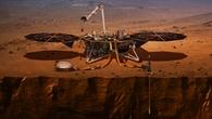 Die NASA%2dSonde InSight auf der Marsoberfläche