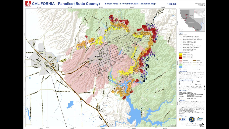 waldbrände kalifornien 2020 karte DLR   Earth Observation Center   ZKI
