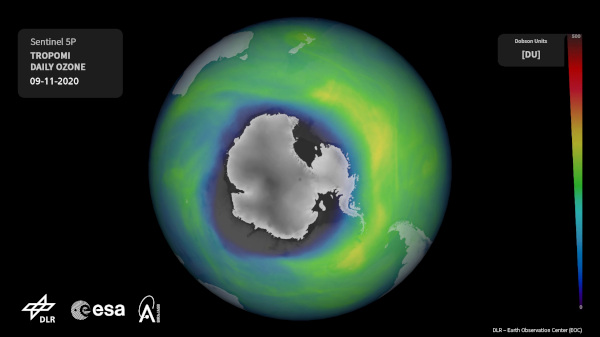 Ozonloch Dezember 2020