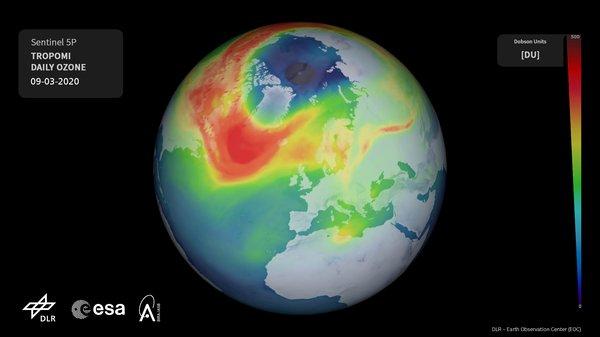 Ozonloch Nordpol 2020