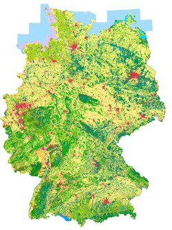 Map Of Germany 2000.Dlr Earth Observation Center Corine Land Cover