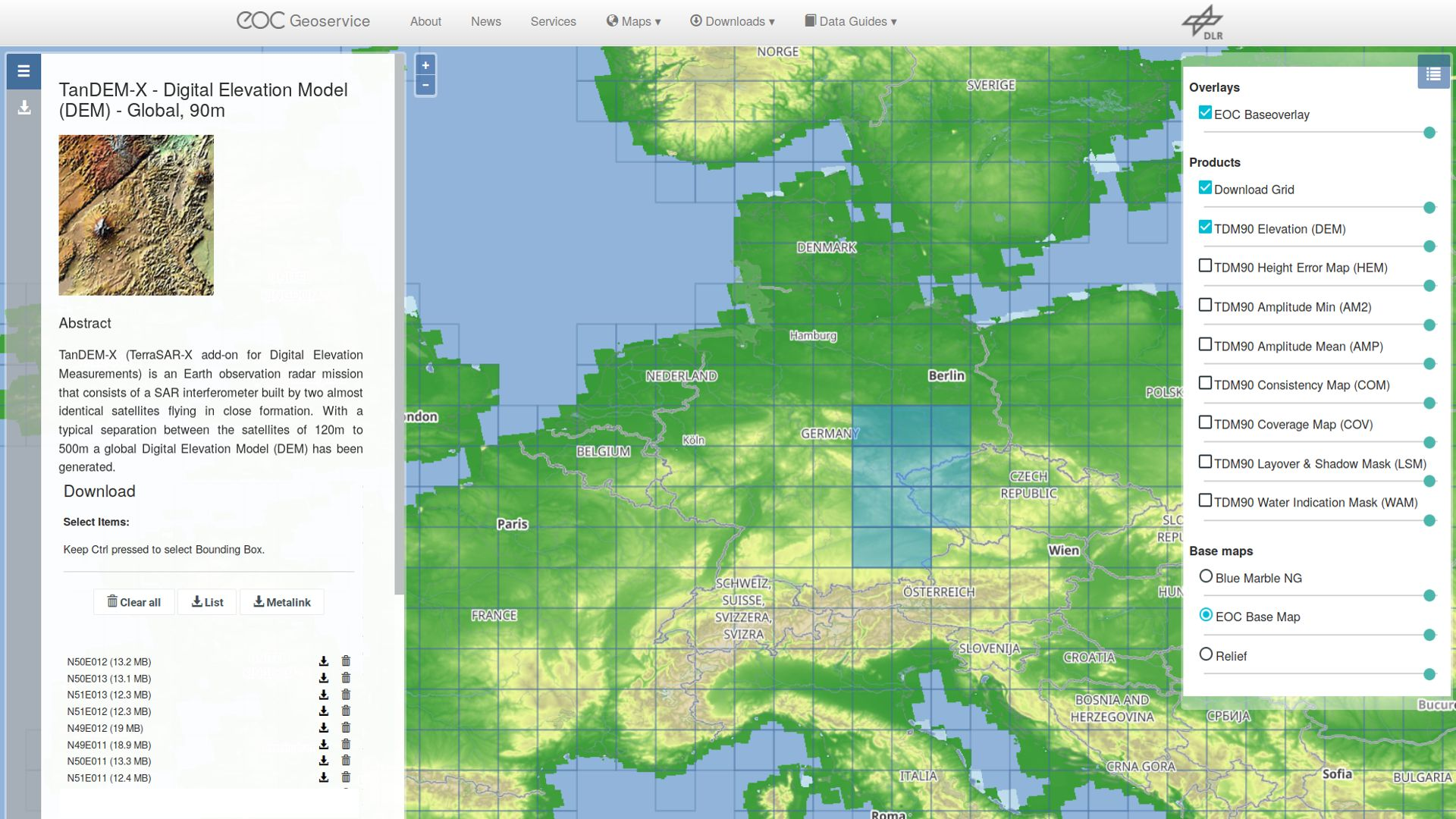 Map Of Germany 3d.Dlr Earth Observation Center The World In 3d To Download Free Of