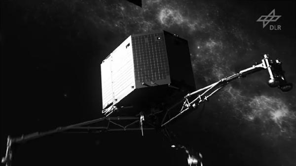 Teile des Puzzles %2d Philae auf dem Kometen 67P