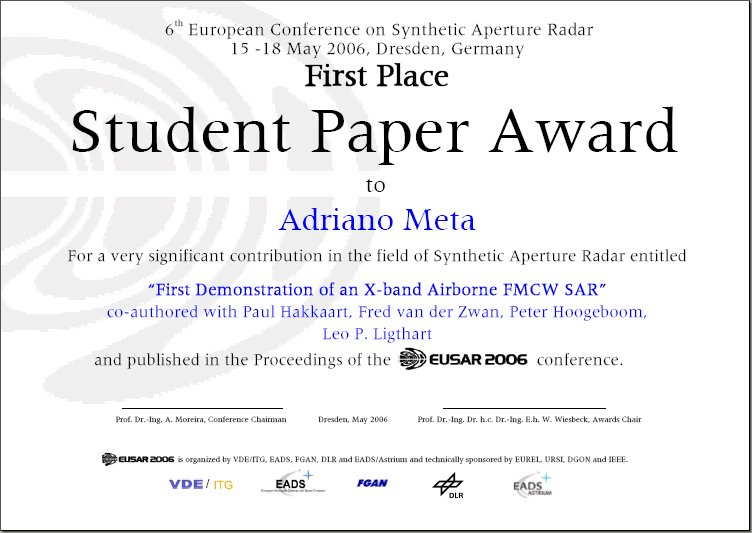 microwaves and radar institute awards information