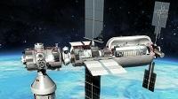 Die kleine und modulare Basis Plattform stellt die grundlegenden Funktionen für eine permanente Unterbringung von drei Astronauten bereit.