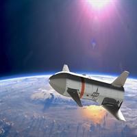 ReFEx nach der Abtrennung auf seiner Suborbitalen Bahn im Weltraum